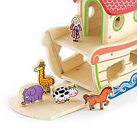Дерев'яний сортер Viga Toys Ковчег зі звірятами (50345)