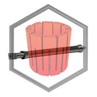 Шток (стопор) графитовый для машин Galloni G1/G1 plus /G3