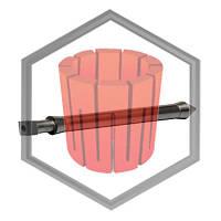 Шток (стопор) графитовый для машин Galloni G1/G1 plus /G3, фото 1