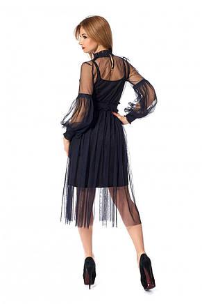 Стильне універсальне мереживне плаття-двійка 42-44, фото 3