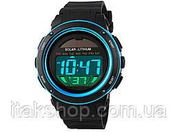 Спортивные мужские часы Solar Watch Skmei 1096 Blue, фото 2