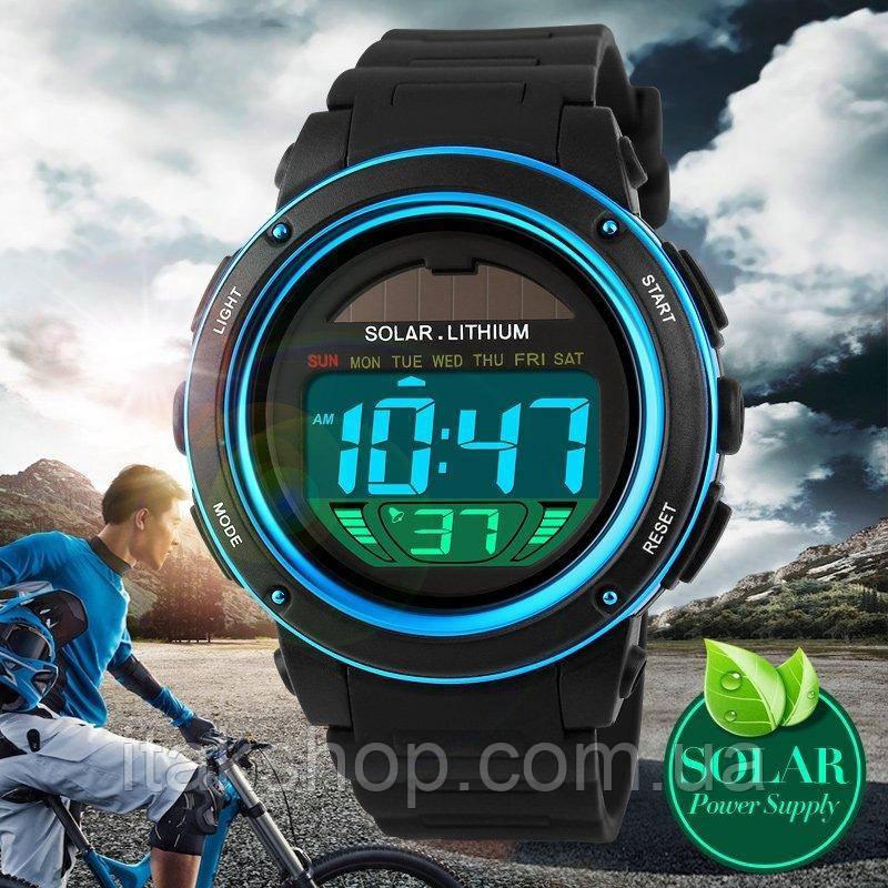 Спортивные мужские часы Solar Watch Skmei 1096 Blue