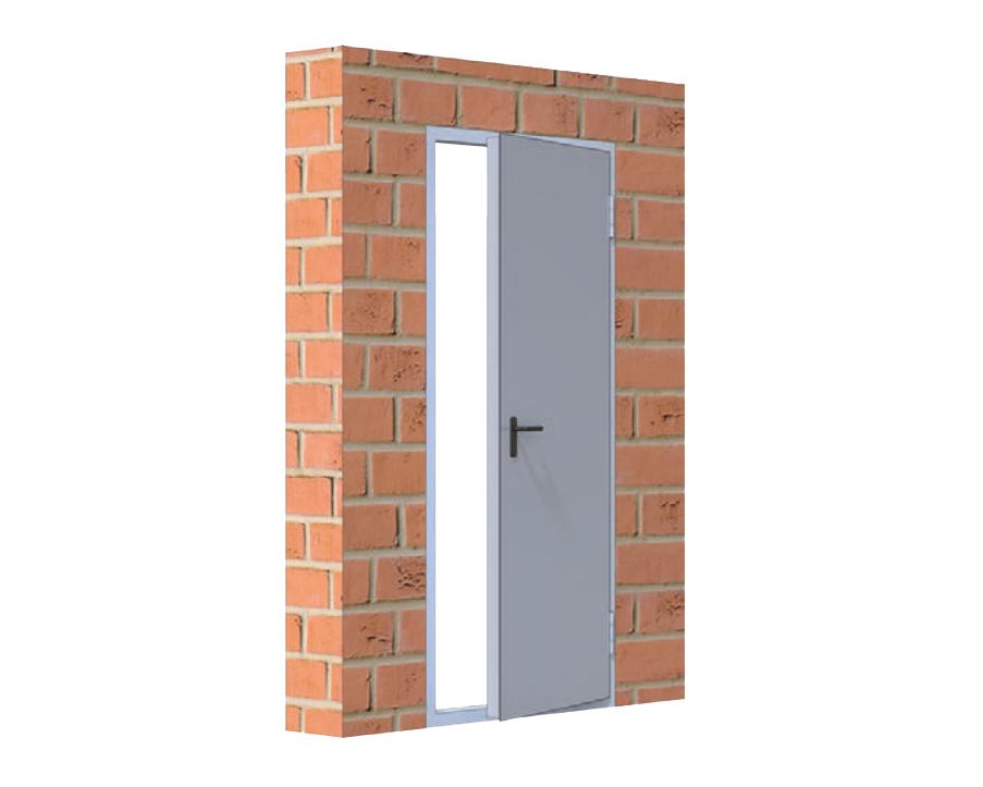Противопожарные металлические двери Alutech