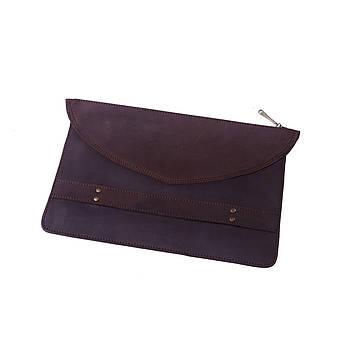 Чехол для MacBook из натуральной винтажной  кожи коричневый