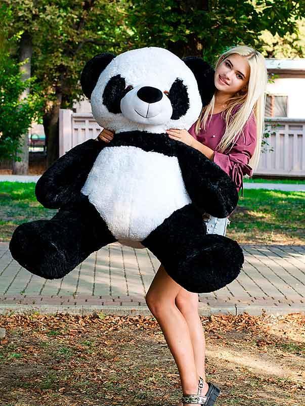 Панда 140см.Большая игрушка Плюшевая Панда  Мягкие мишки игрушки Панда