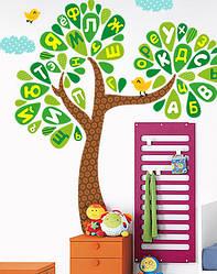 """Дитяча наклейка на стіну """"Буквене дерево"""""""