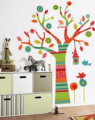"""Дитяча наклейка на стіну """"Дерево в смужку"""""""