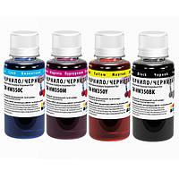 Комплект чернил для HP 121/134 (4х100мл) ColorWay