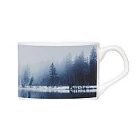 Кавова чашка з блюдцем - Зимовий туман 150 мл