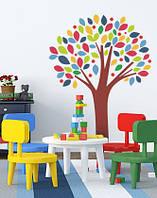 """Наклейка в дитячий сад або школу """"Кольорове дерево"""""""