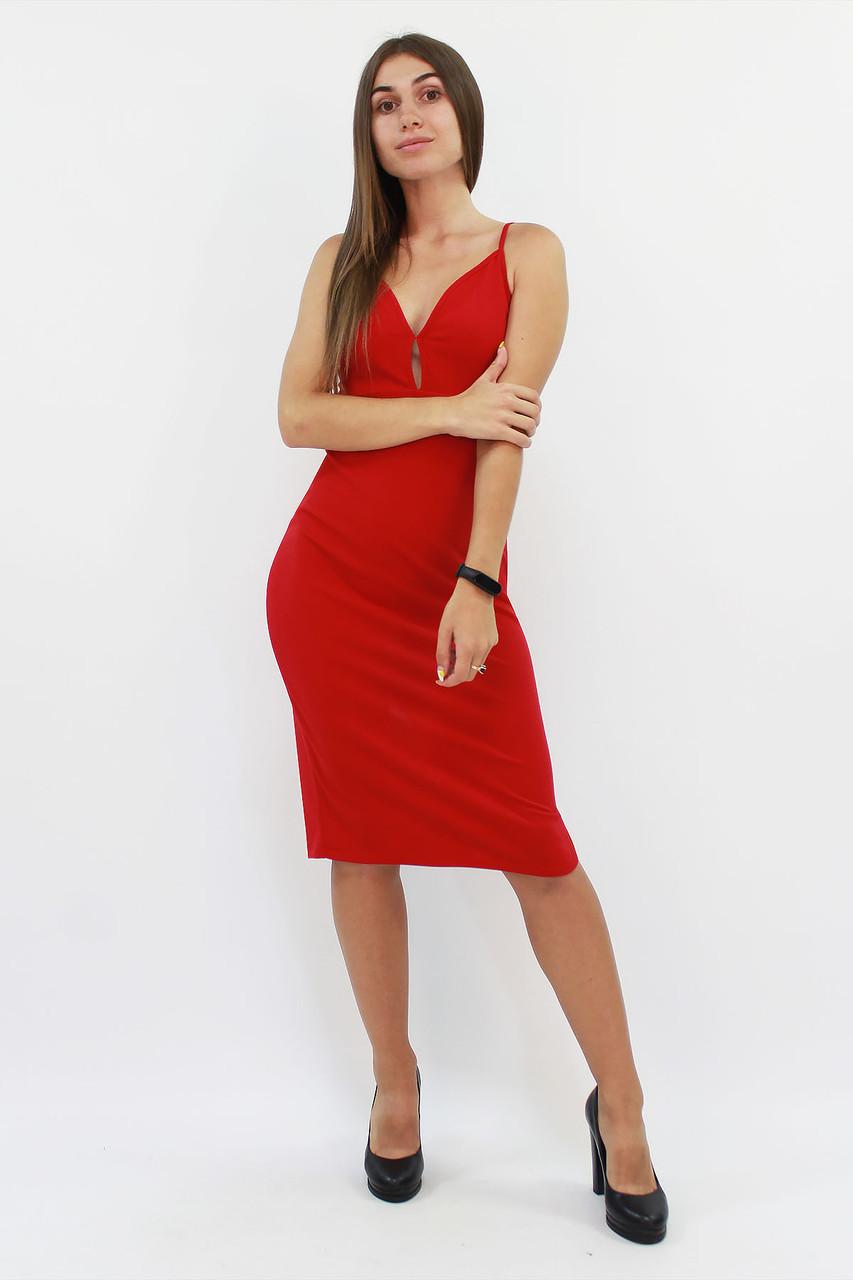 S, M, L / Вечірнє жіноче плаття на бретелях, червоний