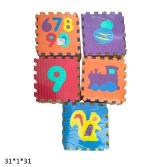 Коврик-пазл, 9шт/упак., 6 видов, BT-T-0218