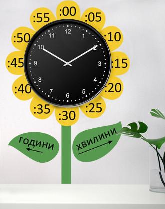 """Наклейка для класу Нуш: """"Квітка-годинник"""""""