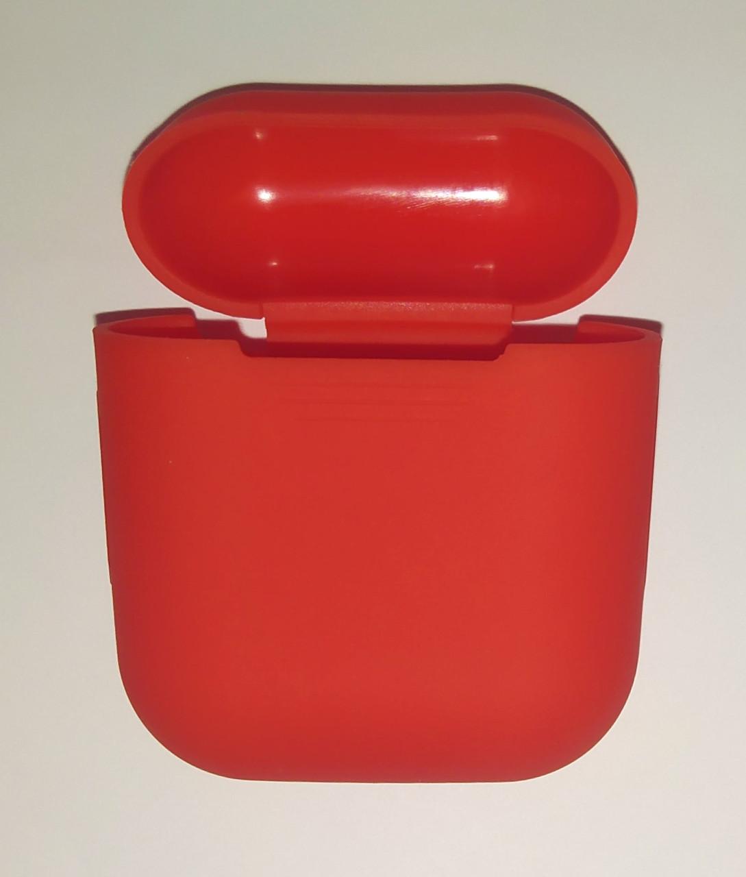 Чехол на AirPods темно-терракотовый, силиконовый