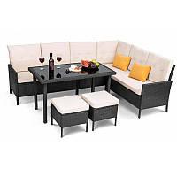 Садовая мебель плетенная VENICE Black мебель из искусственного ротанга для дома, сада, кафе и ресторанов