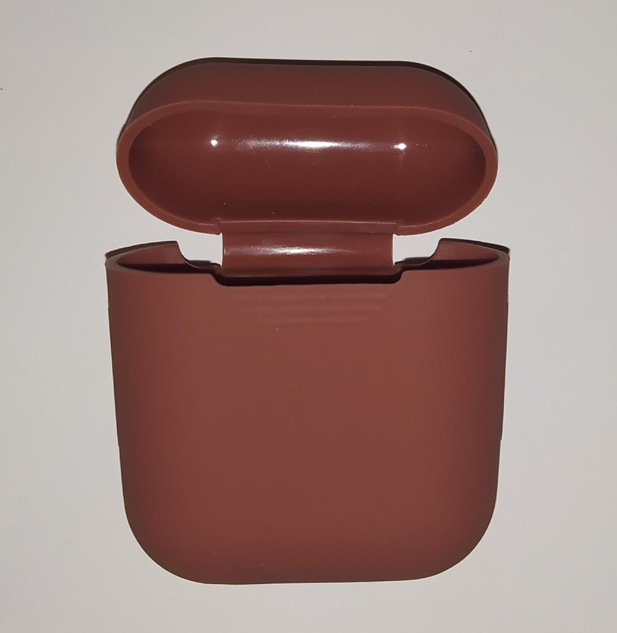 Чехол на AirPods шоколад, силиконовый