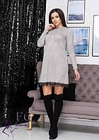 Свободное теплое платье В 0205/01, фото 1