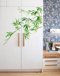 "Вінілова наклейка на меблі ""Гілка бамбука"""