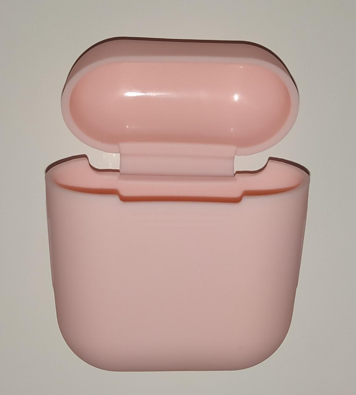 Чехол на AirPods розовый, силиконовый