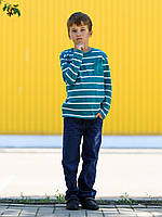 Детский реглан для мальчика в полоску