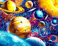 Картины по номерам 40×50 см. Солнечная система, фото 1