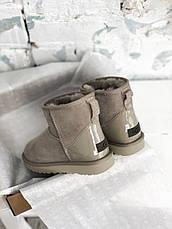 Угги женские зимние UGG Classic II Mini (МЕХ) серые (Top replic), фото 2