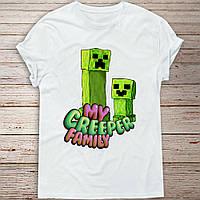 Детская футболка с принтом Minecraft (Майнкрафт)