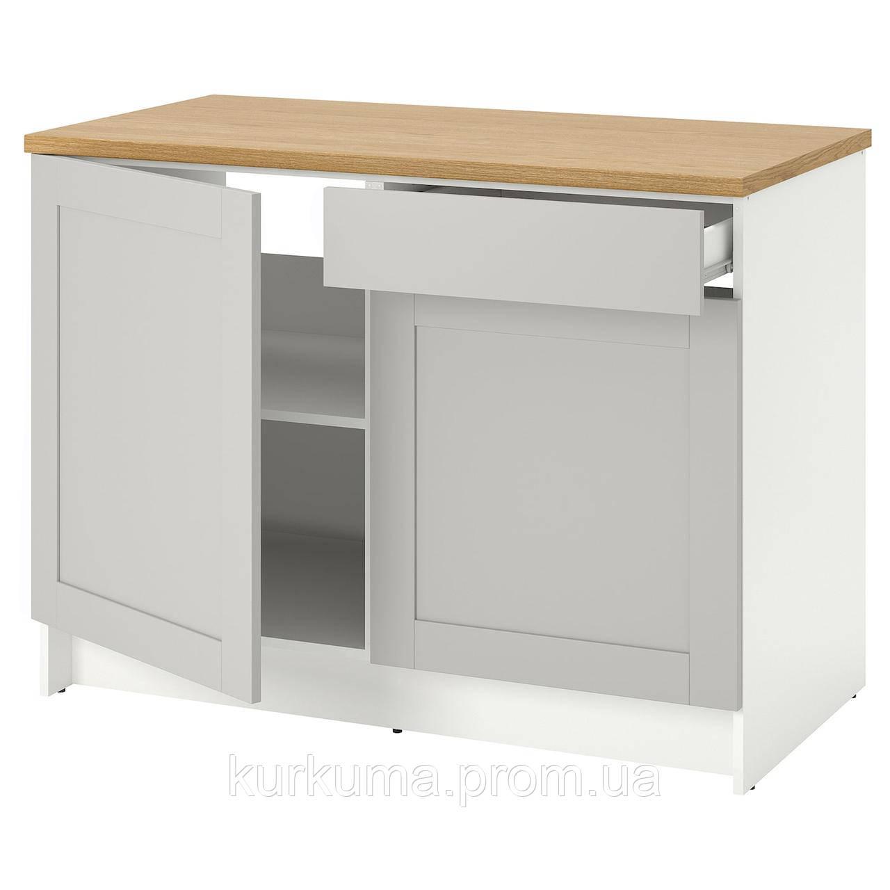 IKEA KNOXHULT Напольный шкаф с дверцами, серый, 120 см (503.267.94)