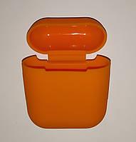 Чохол на AirPods апельсин, силіконовий