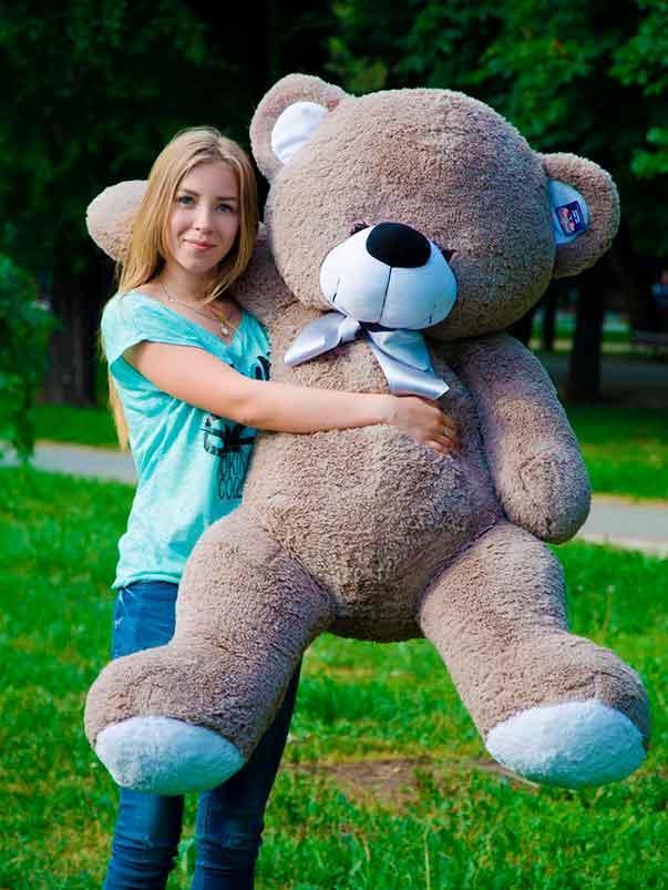 Мишка Бойт 160см.Большая Панда игрушка Плюшевая Панда  Мягкие мишки игрушки Панда (Серый)