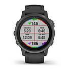 Смарт-годинник Garmin Fenix 6S Sapphire - Carbon Gray DLC with Black Band з чорним ремінцем, фото 7