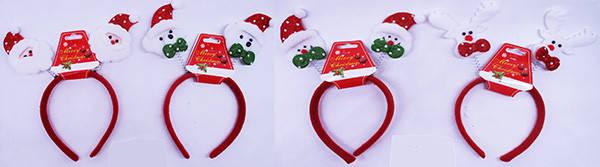 """Обруч новогодний """"Дед Мороз, Снеговик"""", 4 цвета, 609-3, фото 2"""