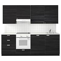 IKEA METOD Кухня, белая Максимера, Tingsryd черный, 240x60x28 см (591.323.53)