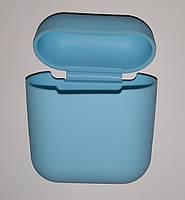 Чехол на AirPods нежно-голубой, силиконовый