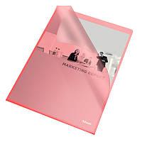 Папка-уголок Esselte Standart А4 прозрачная красная 25 шт