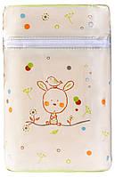 Термоконтейнер Ceba Baby Double   85*155*230мм*2шт бутылочки  беж-салатовый (зайчик, птичка)