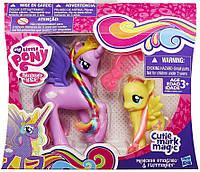 Принцесса Стерлинг и Флаттершай - SterlingFlutter, My Little Pony, Cutie Mark Magic, Hasbro - 156182