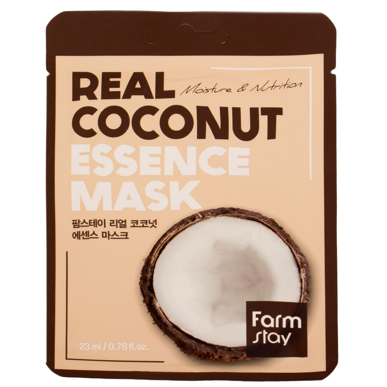Увлажняющая тканевая маска с экстрактом кокоса FarmStay Real Coconut essence mask
