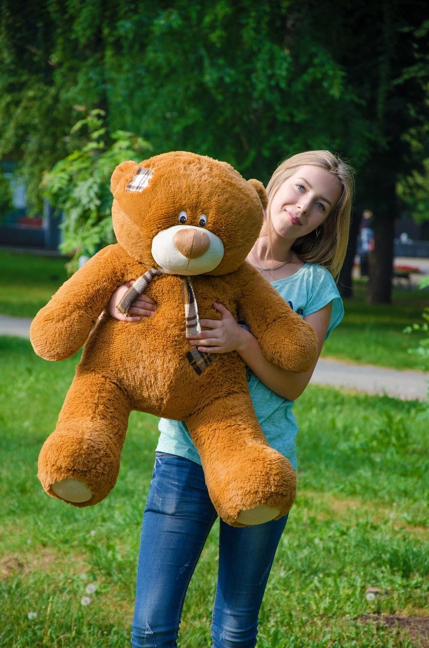 Плюшевый Мишка Тедди 100 см  Медведь игрушка Плюшевый медведь Мягкие мишки игрушки Ведмедик (Коричневый)