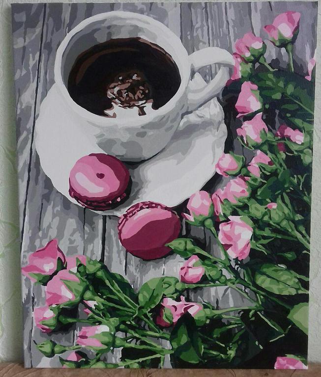 Картина за номерами Романтична кава КНО5559 у виконанні Лапки Наталі