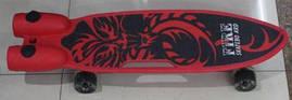 Скейт, PU светящиеся колеса, дым, музыка, 3 цвета, BT-YSB-0086