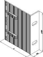 Кронштейн алюминиевый для навесного фасада 180х150х40