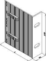 Кронштейн алюминиевый для навесного фасада 210х150х40