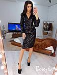 Женское платье-футляр с пайетками (в расцветках), фото 3