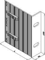Кронштейн алюминиевый для навесного фасада 90х150х40