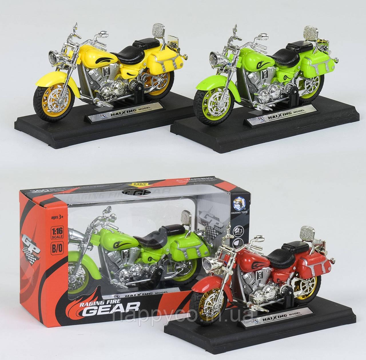 Мотоцикл детский металлопластик, свет, звук