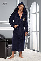 Халат мужской длинный капюшон NUSA, XL