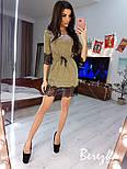 Женское платье-туника люрекс с кружевом (в расцветках), фото 2
