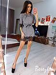 Женское платье-туника люрекс с кружевом (в расцветках), фото 4
