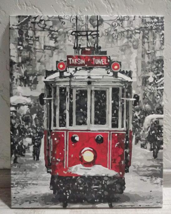 Картина за номерами Зимний город КН3531 у виконанні Ірини